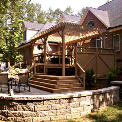 Custom Built Stone Patio with Fire Pit and 3 Season Screened Porch