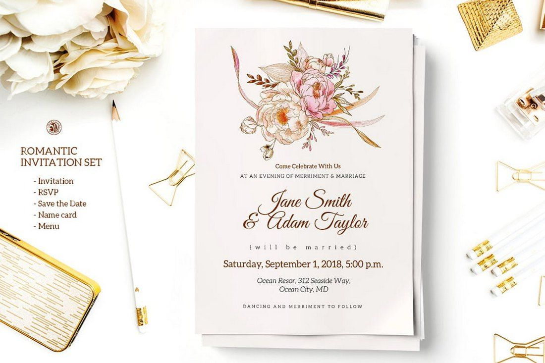4 Wonderful Wedding Invitation & Card Design Samples  Wedding
