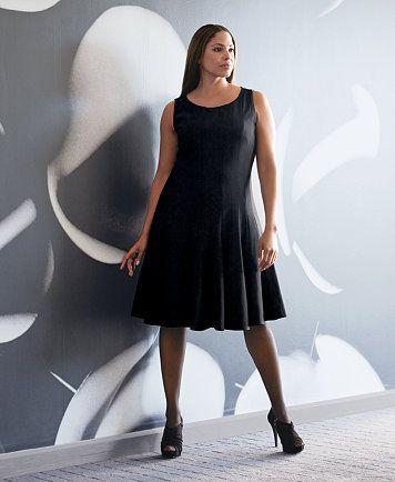 6f6bcbbbcc Calvin Klein Plus Size Pleated A-Line Dress   macys.com Plus Size Short