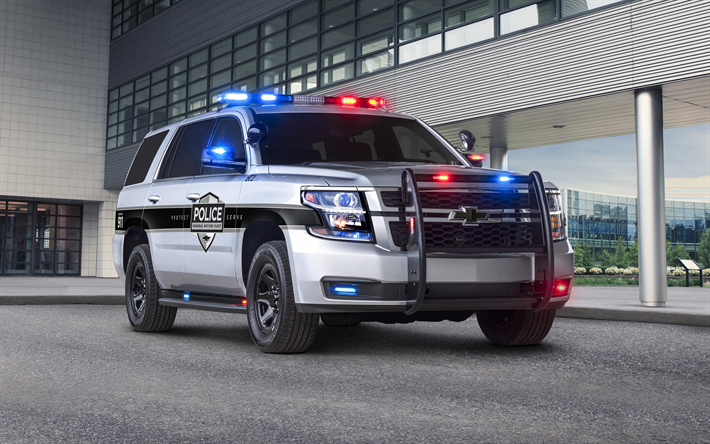 Download Wallpapers Chevrolet Tahoe Ppv 4k 2018 Cars Police Cars