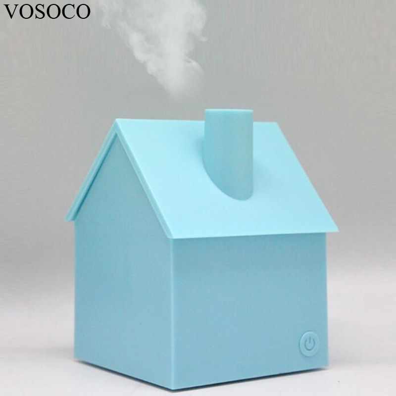 VOSOCO Humidifier 200ML USB Mini House Style Portable Air Humidifier Essential Oil Aroma Diffuser Home Office Mist Maker Fogger