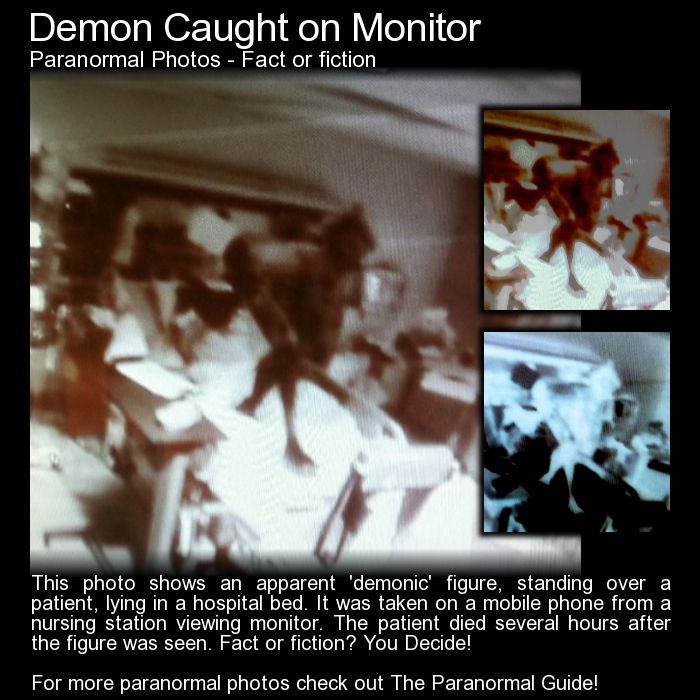 Demon Caught On Monitor. Was An Evil Entity Caught Onthis