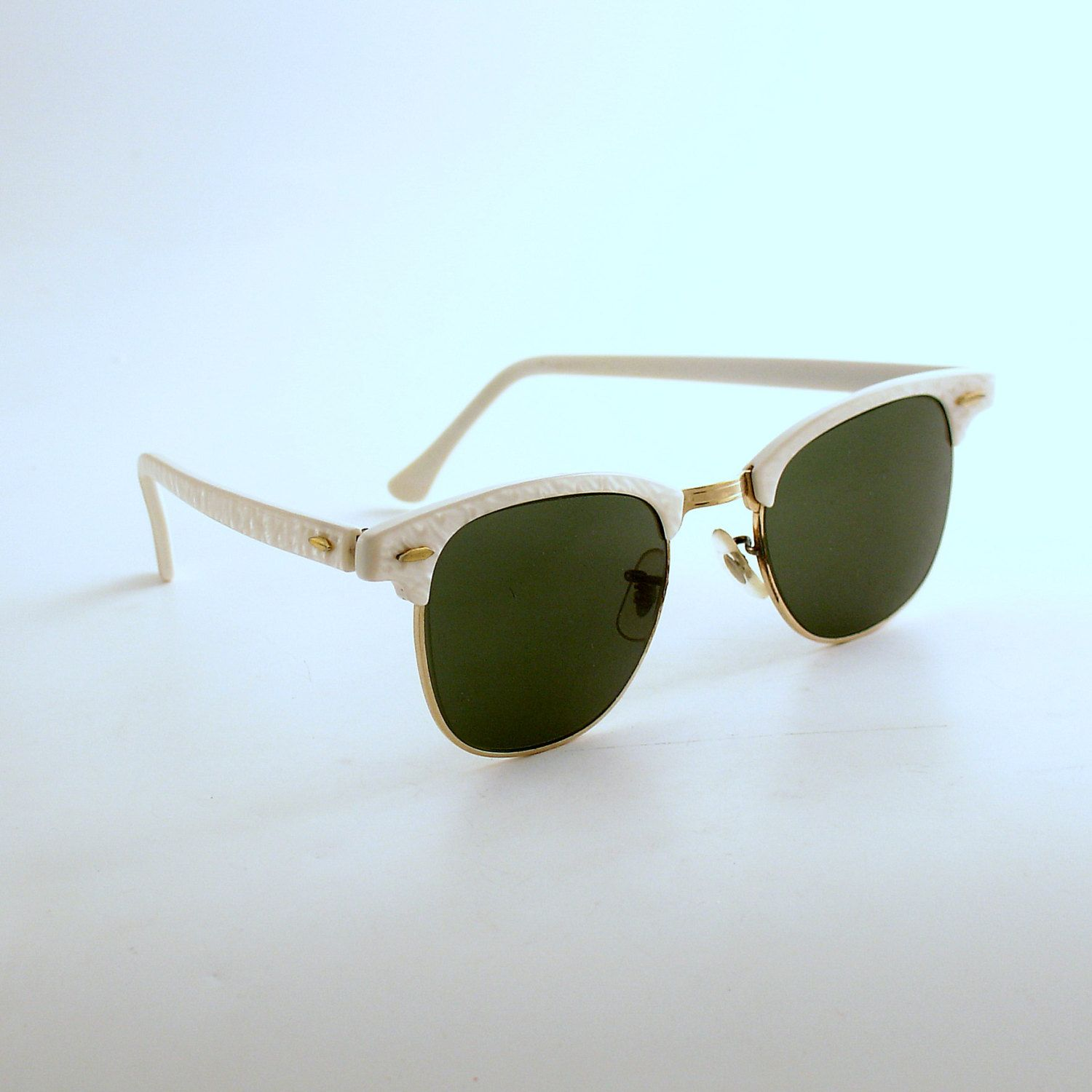 6b71566681f8 Vintage Ray Ban Clubmaster Sunglasses Bausch Lomb Made in USA by efinegifts on  Etsy
