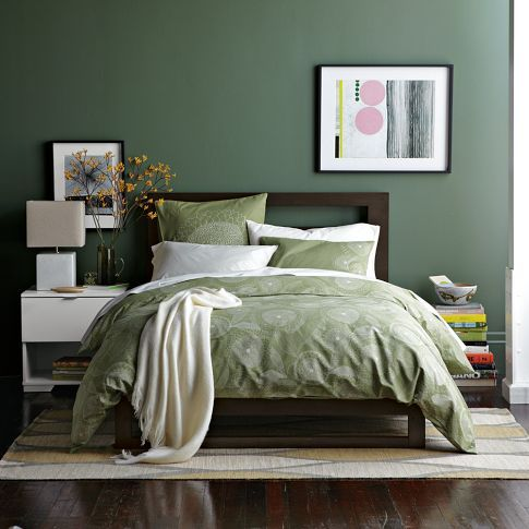 breathtaking green bedroom walls white furniture | Benjamin Moore Peale Green HC-121 Love the color. And the ...