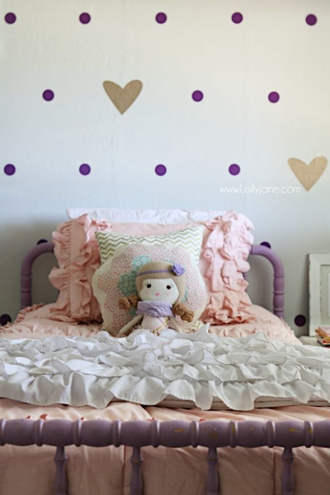 Little Purple Gold Bedroom Makeover Pretty And S Lots Of Decor Ideas