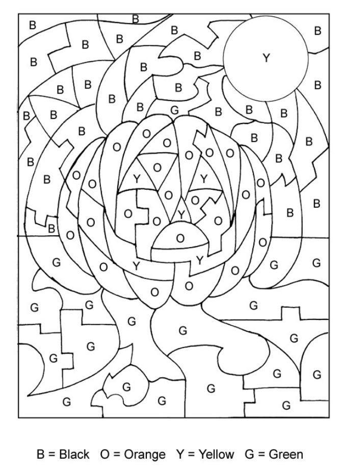 Halloween Coloring Pages For Adults Color By Number