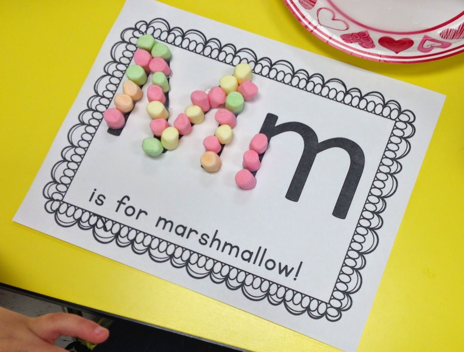 M Is For Marshmallow Alphabet Activities