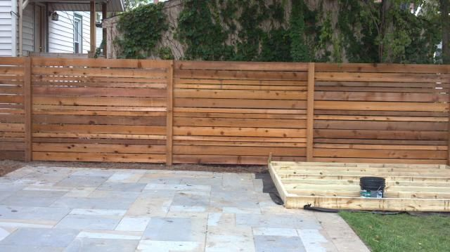 horizontal wood fence designs horizontal spaced cedar customer design