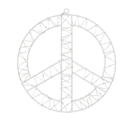Light Up Hanging Peace Signs Peace Sign Light Up Hanging