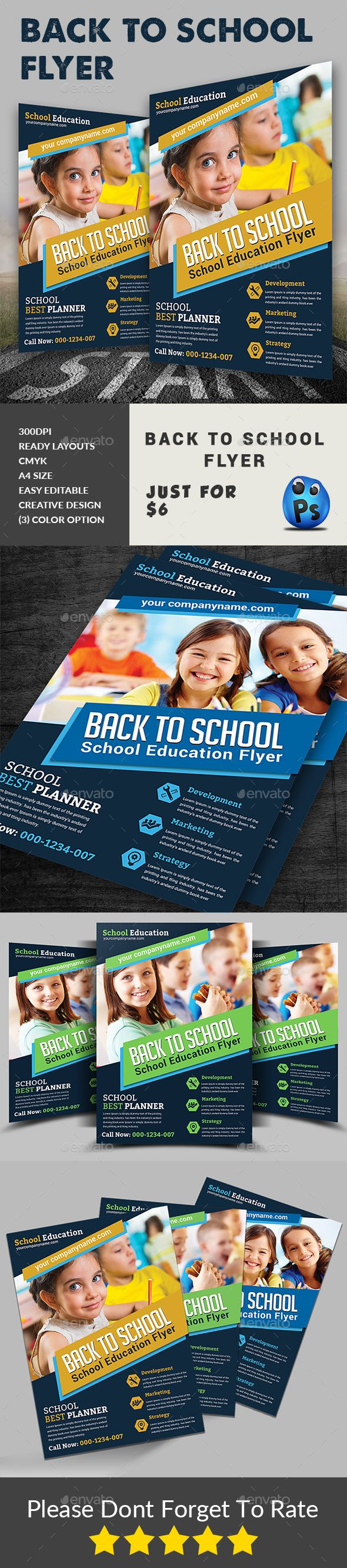 Back To School Flyer  Flyer Template Graphics And Font Logo