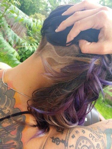 Loving my purple hair and undercut