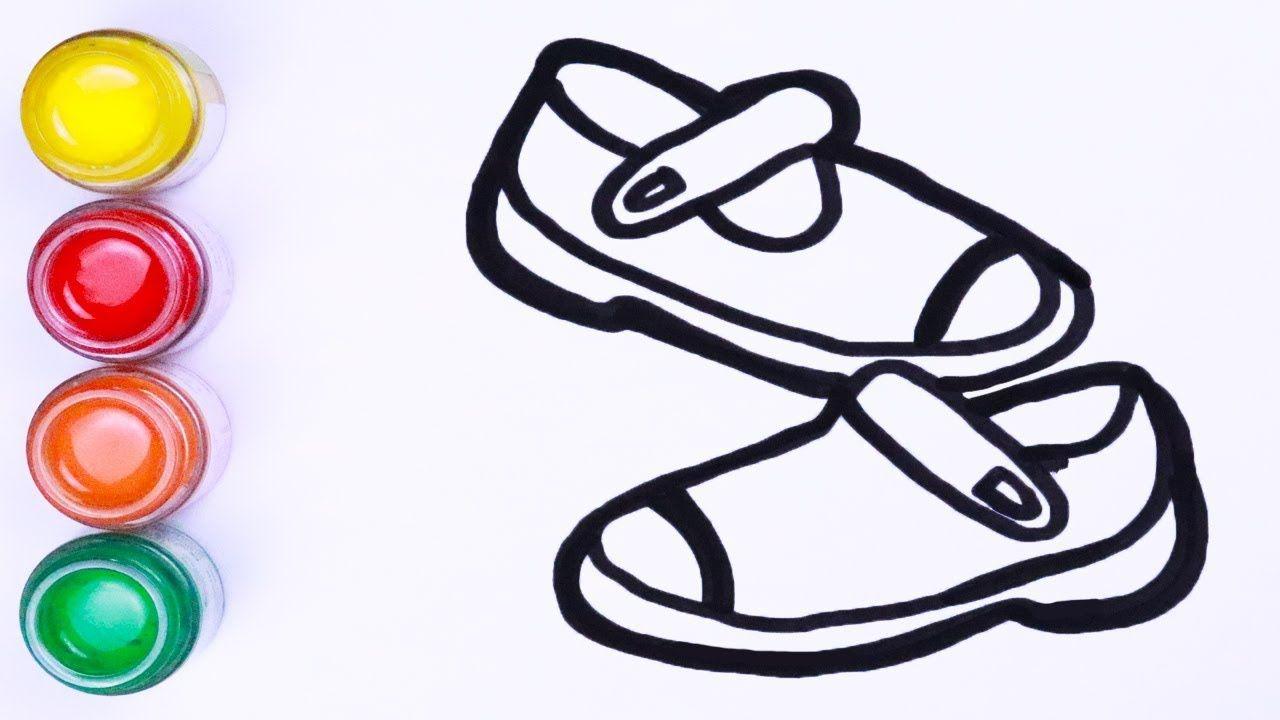 Menggambar Dan Mewarnai Sepatu