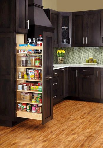 Wood Tall Pantry W Slide At Menards For Small Cabinet To Left Of