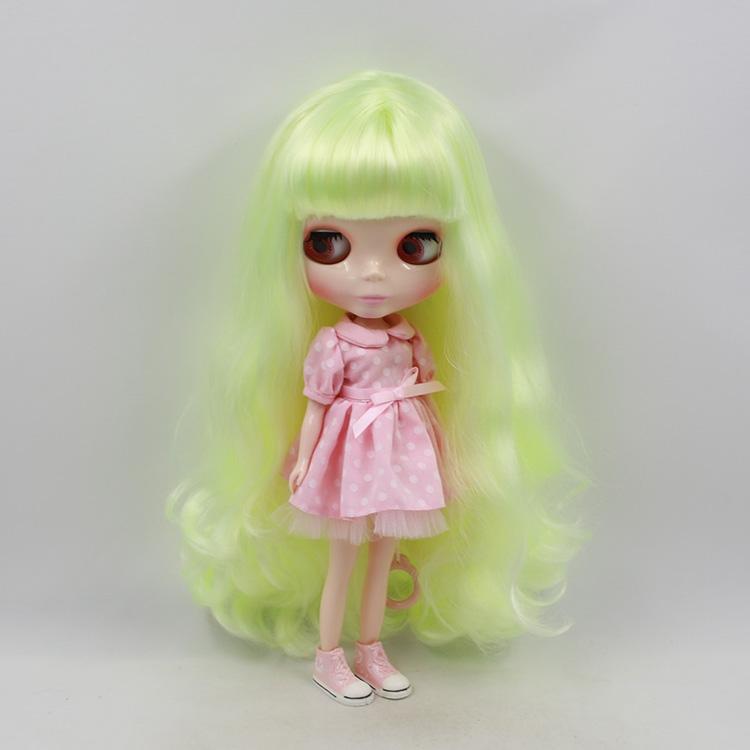 63.92$  Watch now - http://ali5z2.worldwells.pw/go.php?t=32345919021 - Blyth doll nude 11.5 fashion dolls Yellow green long hair  63.92$