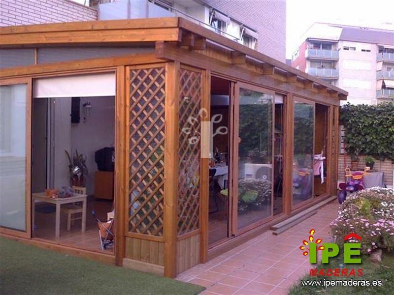Terraza Con Cenador Acristalada Techo De Patio Ampliaciones De Casas Decoracion De Patio Exterior
