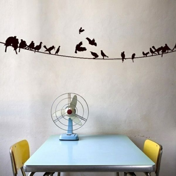 Wandtattoo Im Esszimmer Wandgestaltung Wandsticker Vögel