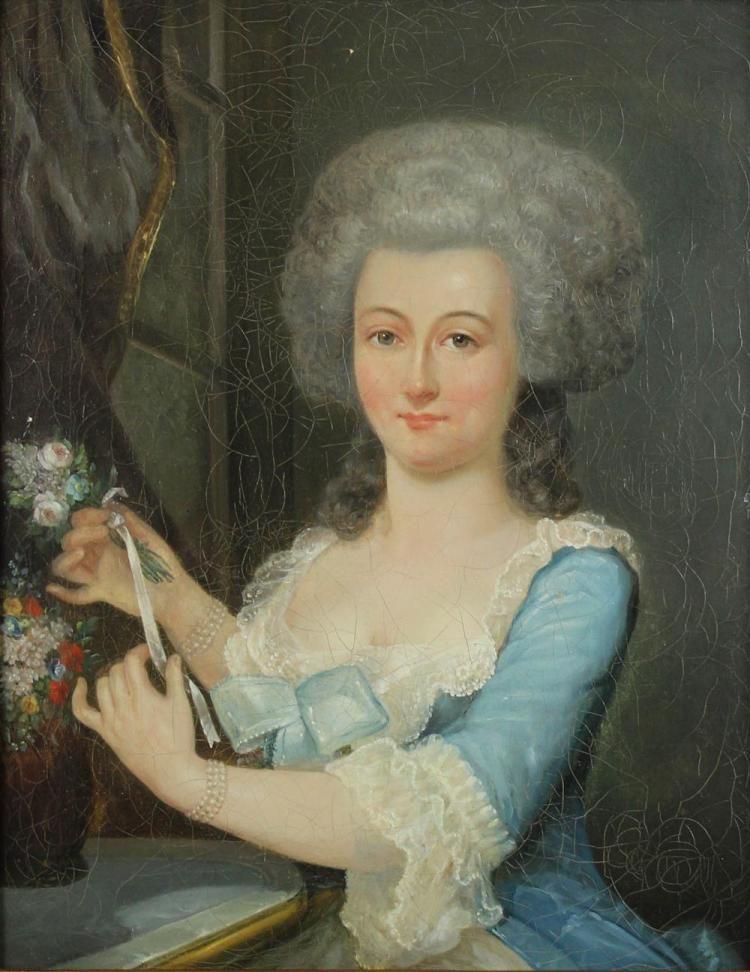 portrait of a lady th century french school versailles era portrait of a lady 18th century french school