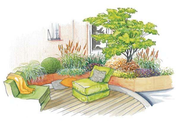 Gestaltung einer Outdoor-Lounge Outdoor lounge, Schöne gärten - garten gestalten vorher nachher