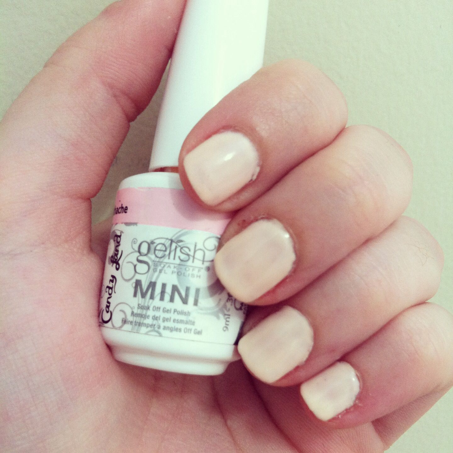 "Pink Nail Polish Mini: My Gel Nails! DIY Gelish Mini Nail Polish. Color: ""you're"