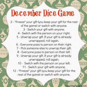 photo regarding Christmas Dice Game Printable named white elephant presents (spherical 2) and some recreation strategies!!! (with