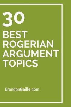 rogerian argument topics