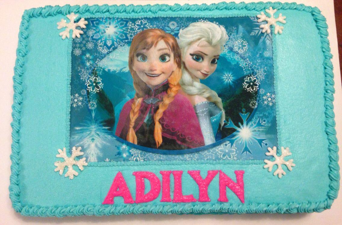 Frozen theme birthday cake.