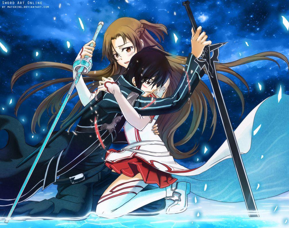 sword art online kirito and asuna - Google Search