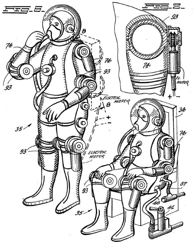 1956 Powered Space Suit Constantin Lent American