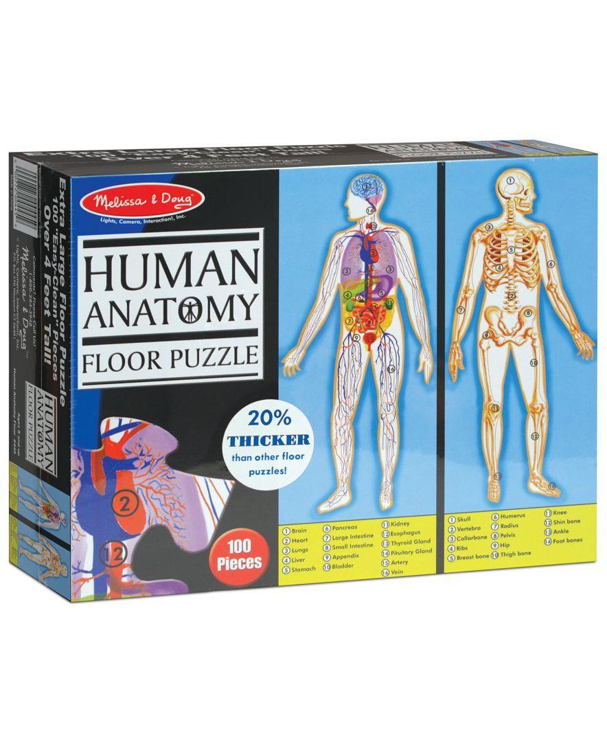 Kids Toy, Human Body 100-Piece Floor Puzzle | Human body