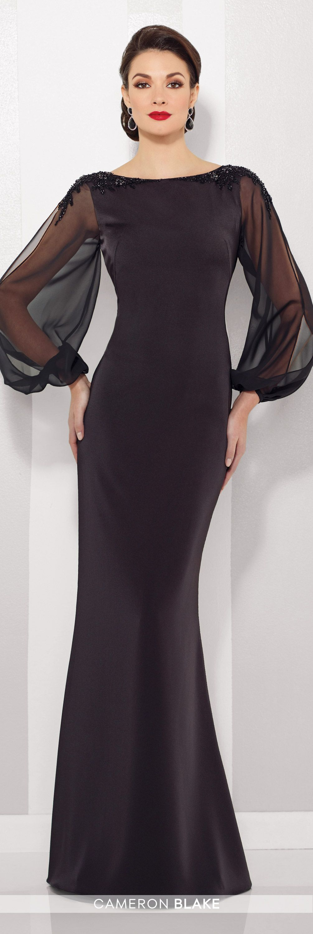 One grim winter evening dress