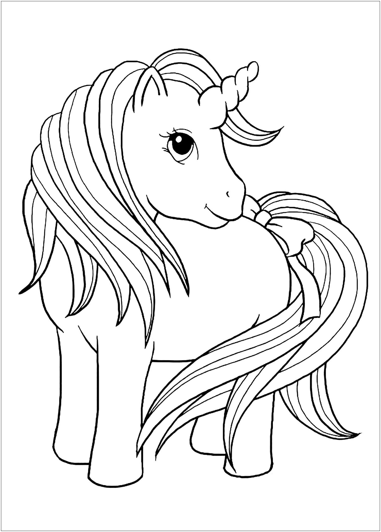 Princess Unicorn Coloring Page in 2020