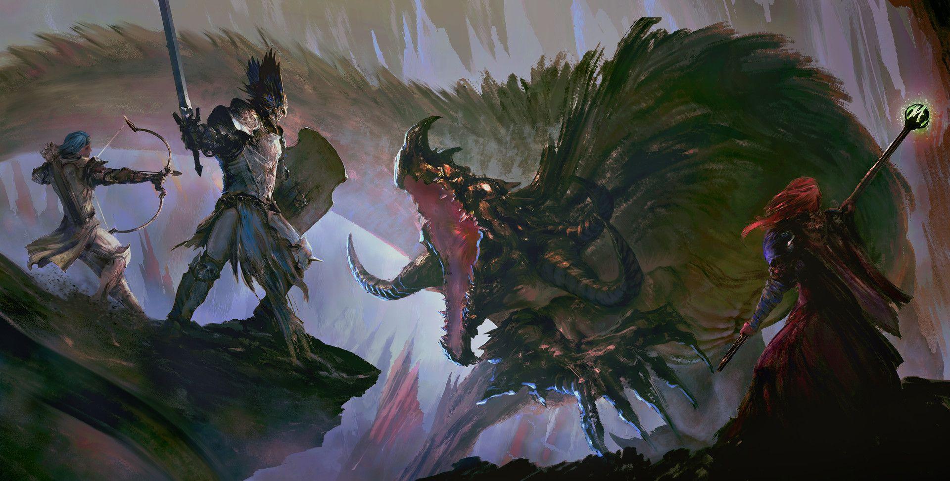 ArtStation - Dragon Slayers - Descent, Felix Ortiz