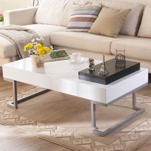 IoHOMES Verona Rectangular Coffee Table And Serving Block