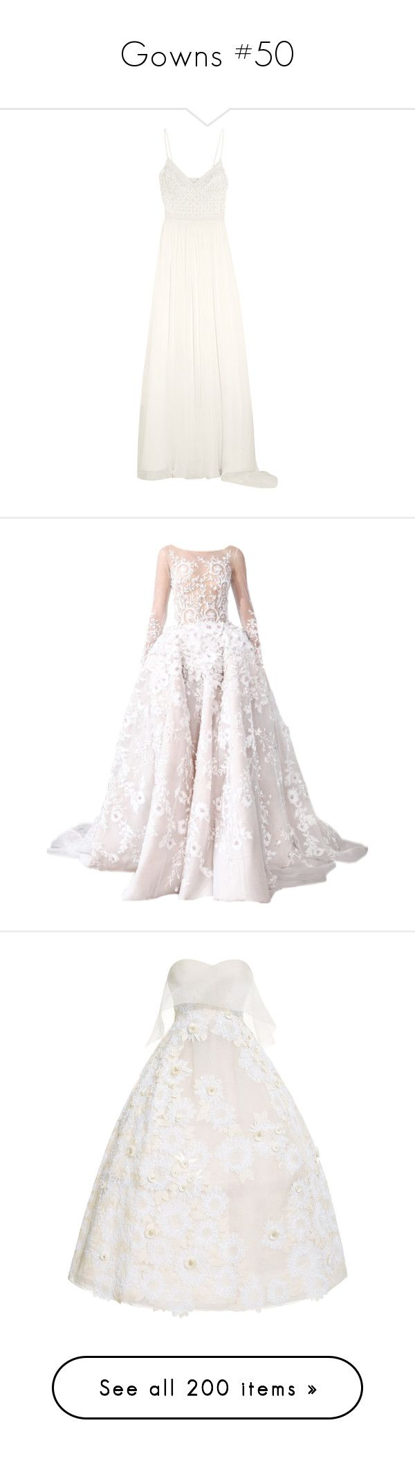 """""""Gowns #50"""" by jewelsinthecrown ❤ liked on Polyvore featuring dresses, gowns, long dresses, maxi dress, temperley london, tulle bridal gowns, white maxi dress, white evening dresses, white evening gowns and long maxi dresses"""