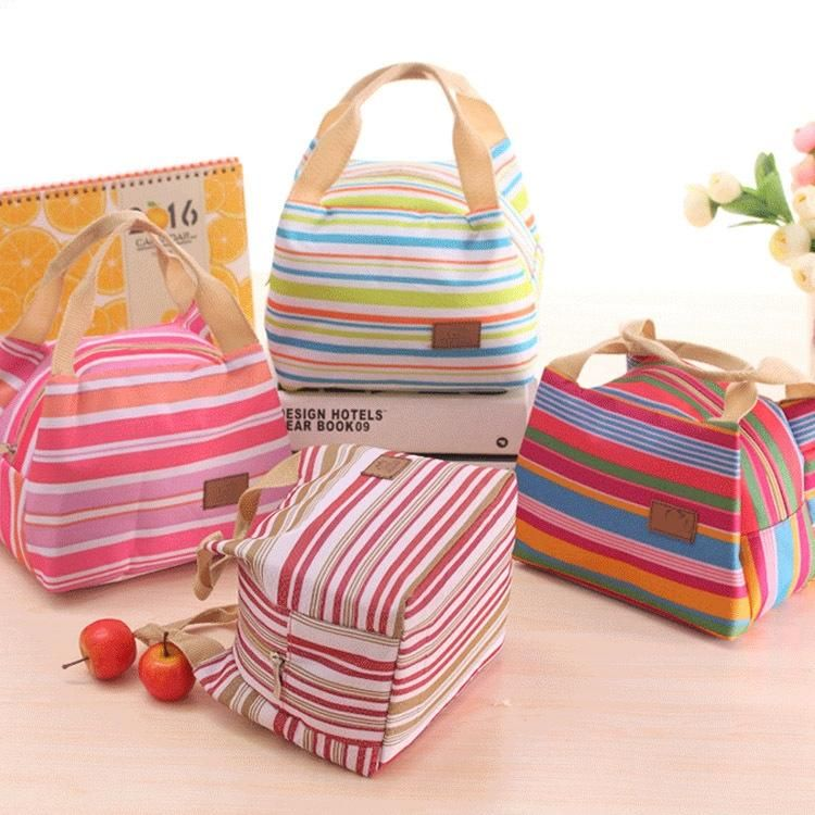 Women Girl Kid Lunch Bags Picnic Storage Box Thermal Cooler Bag Food Zip Pouch