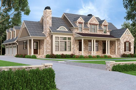 House Plan 927-43- use 3 car garage as in-law space and add ... on brick veneer on plan, brick one story house plans, brick victorian house plans,