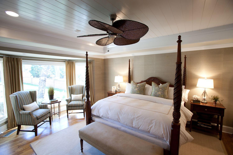 British colonial master bedroom by Loftus Design British