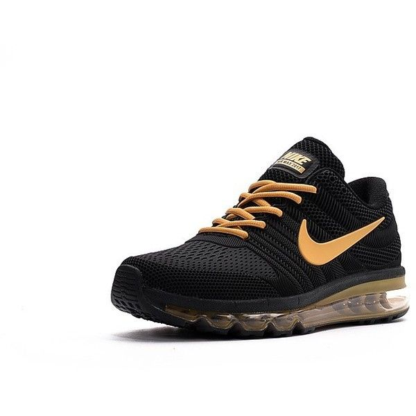Nike Shoes Air Max 2017 Mens Black/Gold 849560-409 ($85) ❤
