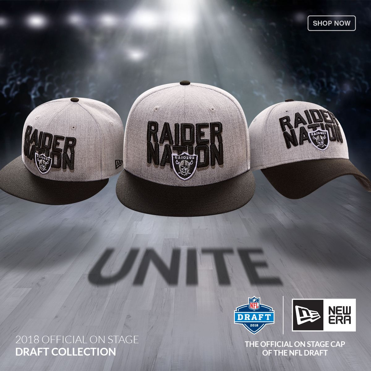 Let s Go Raiders! Get ready for the draft with the New Era 2018 NFL Draft  Cap at Lids. 9ebe4e519