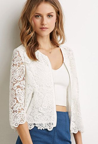 Floral Paisley Crochet Jacket | Forever21 - 2000097594