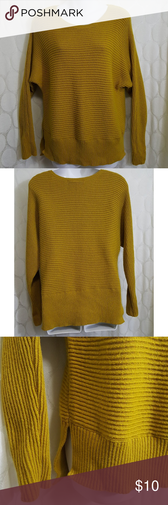 Ann Taylor Loft Yellow Ribbed Sweater | Ann taylor loft, Lofts and ...