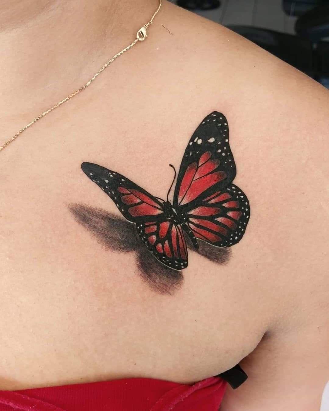 Mariposa 3d Tattoo Butterfly Wrist Tattoo Tattoos Small Chest