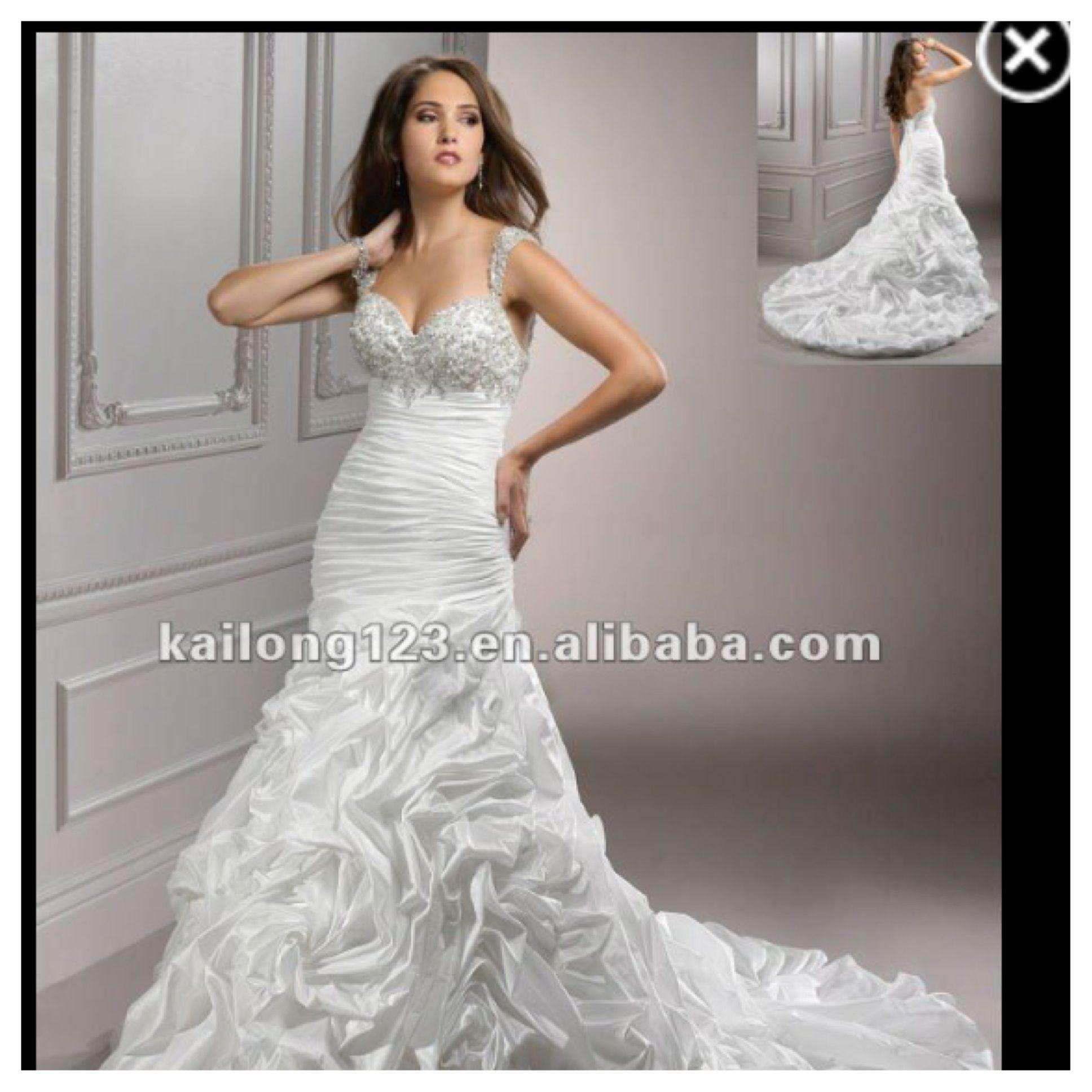 Beautiful Mermaid dress w bling bodice and ruffled skirt