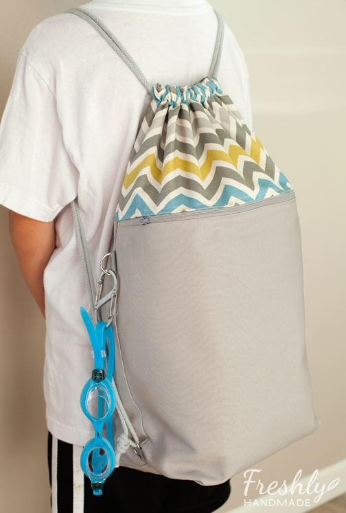 Freshly Handmade: Drawstring Swim Bag | Bags | Pinterest | Swim ...