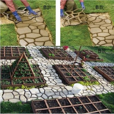 Charmant Garden Stone Road Concrete Pavement Mold DIY Plastic Path Maker Mold  Manually Paving Cement Brick Molds50*50*4.4cm