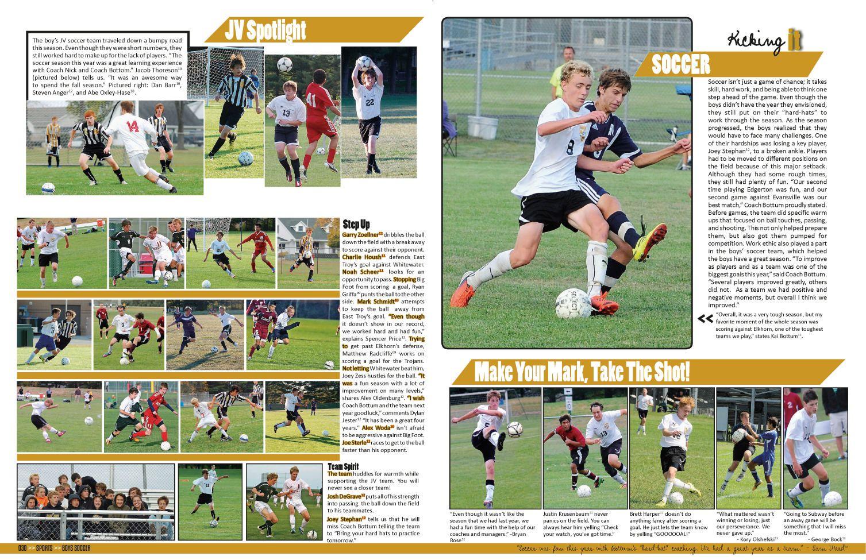 Trojan East Troy High School East Troy Wi Jostens Lookbook2014 Ybklove Yearbook Pages Yearbook Yearbook Spreads