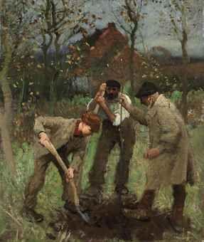 Sir George Clausen - Planting a Tree