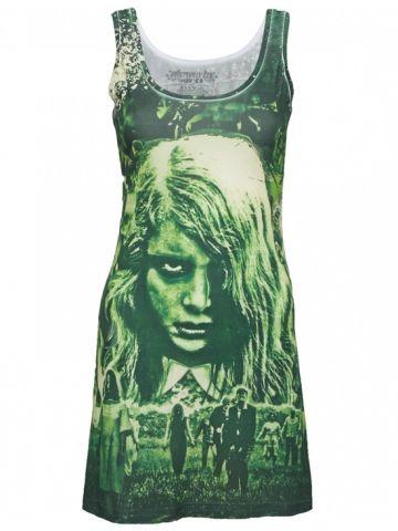 "Woman's ""Night of The Living Dead"" Tank Dress by Kreepsville 666 #inkedshop #nightofthelivingdead #green #tanktop #zombie"