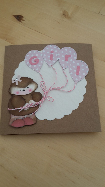 Handmade greeting card girl new baby girl card baby shower card handmade greeting card girl new baby girl card baby shower card by m4hsunfo