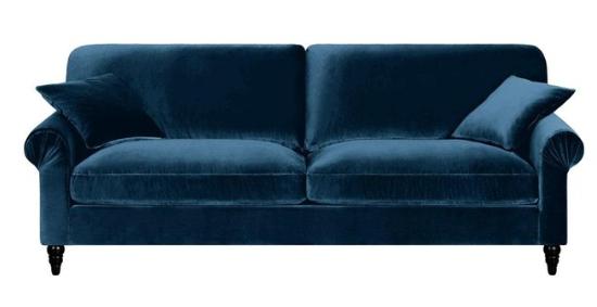 magasin d'usine f3cef a0142 Canapé Juliet AMPM Bleu paon L. 187 x P. 100 x H. 89 cm ...